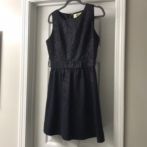 Francesca's navy Aline dress worn once